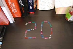 number 20 in paperclips