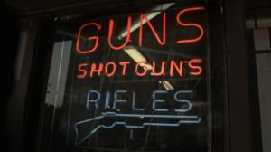 Gun sign in window