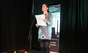 Clodagh O'Brien reading at Big Smoke Writing Factory Flash Bulbs event 2013